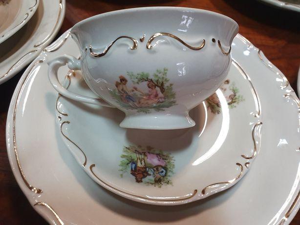 Stara porcelana 6 kompletow sniadaniowych Tulowice