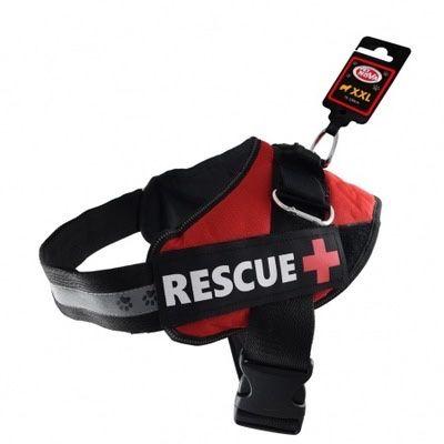 Szelki dla psa czerwone odblaskowe M55-65cm