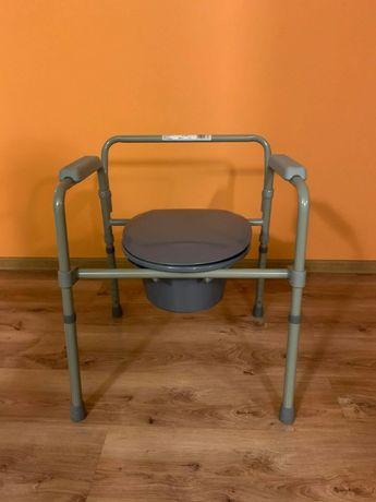 Krzesło toaletowe sanitarne przenośne WC składane