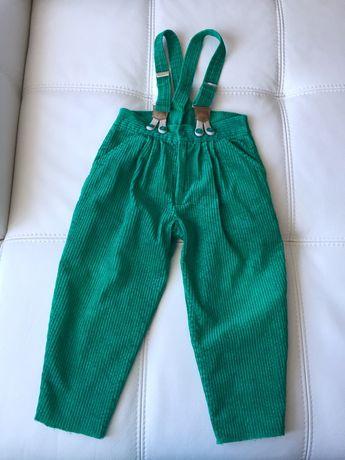 На 2-3 года красивые штаны вельвет зеленые