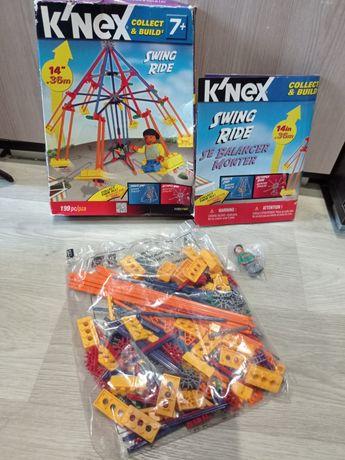 Конструктор knex с фигуркой Lego.  Кнекс карусель
