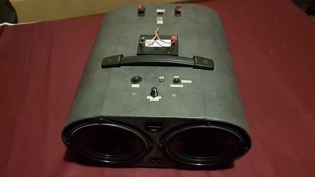 Mega kolumna bluetooth stereo wzmacniacz 2x100wat Tesla!