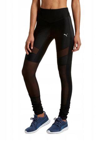 Puma czarne legginsy S siateczka leginsy modelujące