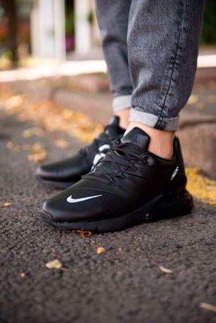 Стильные осение кроссовки nike air max 720 черные кожаные 41-45 найк