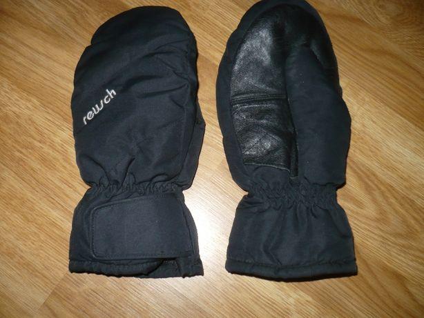 Перчатки лыжные черные Reusch 8р. с кожаной вставкой