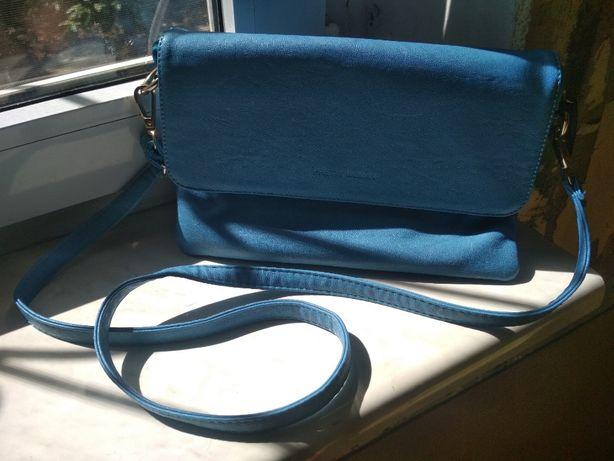 сумка женская голубая