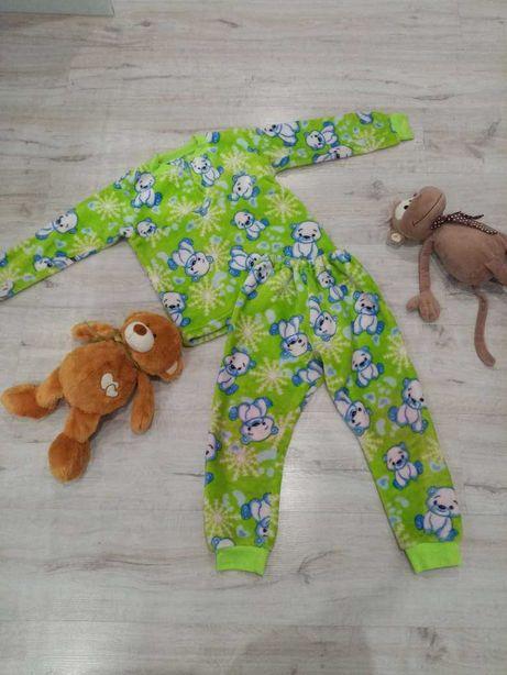 Детская теплая пижама на 3-8 лет