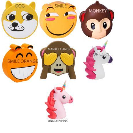 Emoji Power Bank(Собака, Смайл, Обезьяна, Единорог)