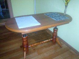 Stół regulowany i rozkładany + 4 krzesla