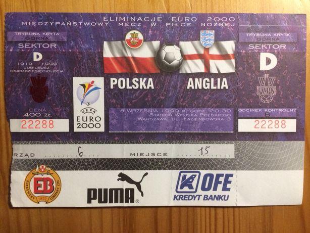 Bilety kolekcjonerskie Polska Anglia Szwecja