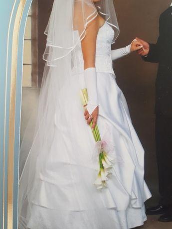 Suknia ślubna r 40, gorset+ spódnica