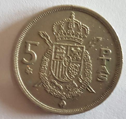 Moeda 5 pesetas espanha 1975