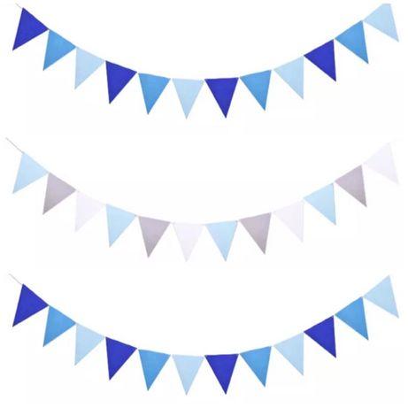 Гирлянда флажки из фетра для праздника