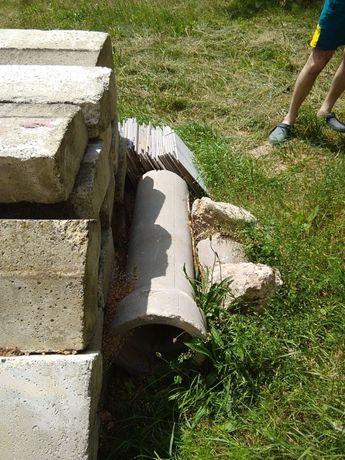 Rury betonowe, przepusty pod przejazd, mostek.