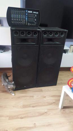 Zestaw nagłośnienia /DJ /estradowe/kolumny/mixer/powermixer