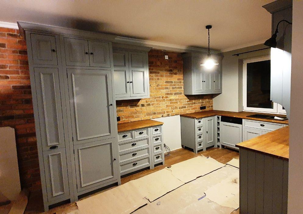 Meble kuchenne, retro , z drewna, styl angielski