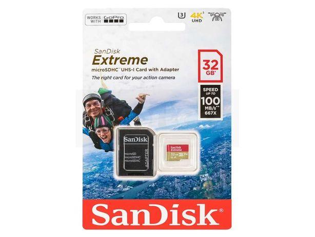 Cartão Memória SANDISK 32GB Extreme MicroSD 100MB/s UHS-I U3