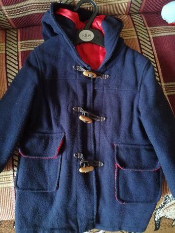 Пальто детское унисекс на 3-4 года бу