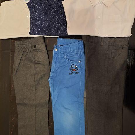 Koszule, spodnie materiałowe, jensowe  chłopięce r. 110/116 ( wymiary)