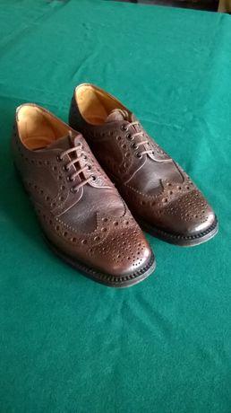 Туфли мужские LOAKE оксфорды, броги (натуральная кожа, ручная работа)