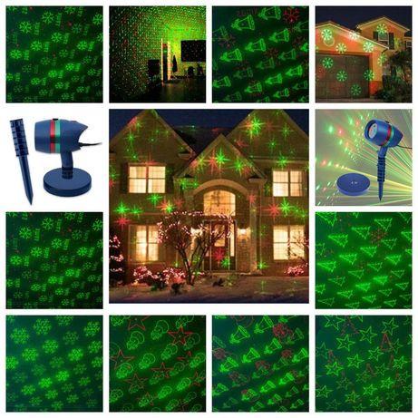 Лазерный проектор уличный новогодний лазер с рисунками