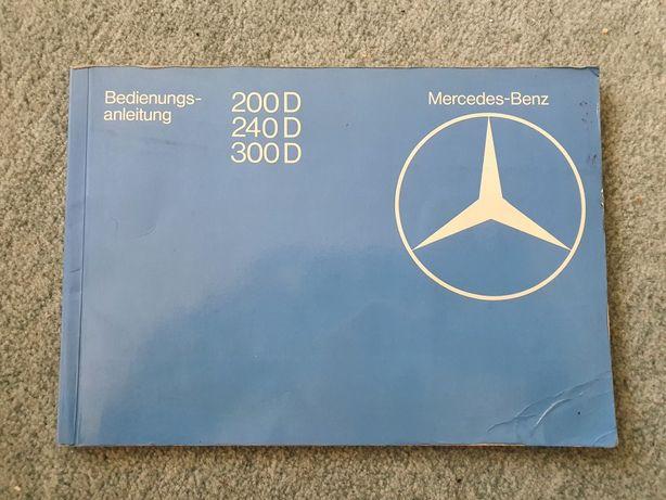 Mercedes-Benz W123 instrukcja obsługi 200D 240D 300D