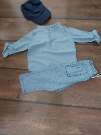 Koszula spodnie czapka H&M rozm. 86