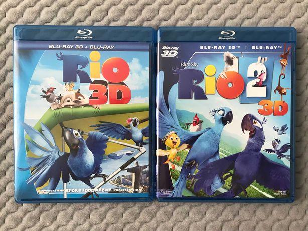 """Rio 1-2"" - 2 bajki Blu-ray 3D + 2D (polski dubbing)"