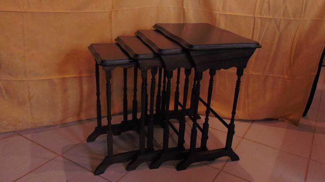 Conjunto 4 mesas de apoio