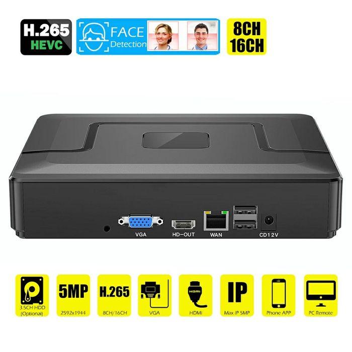 Сетевой IP NVR видеорегистратор на 9 камер 5Mpx. Горловка - изображение 1