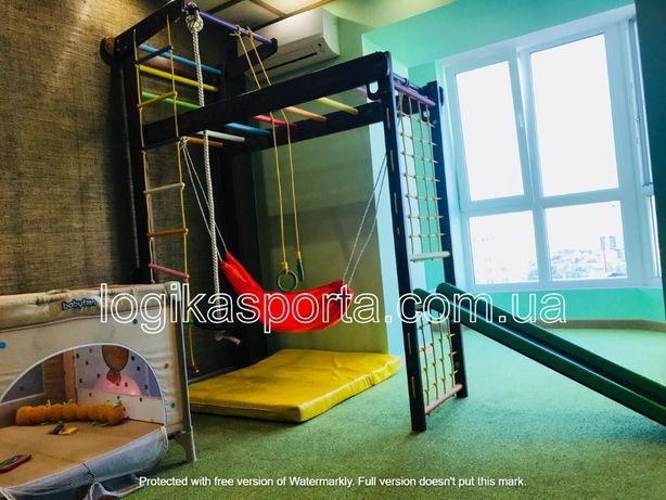 Шведская стенка, детский спортивный комплекс, горка, качели, турник