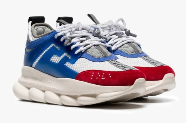 Кросівки Versace Chain Reaction Blue Red White Sneakers