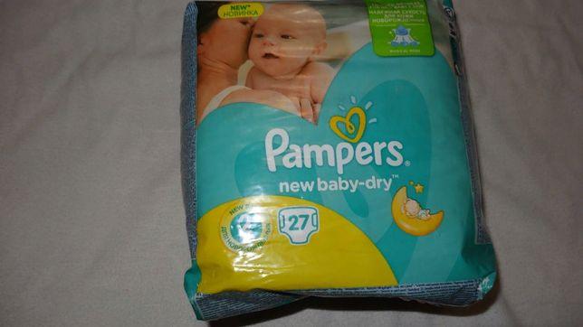 Подгузники Pampers New Baby-Dry Размер 2 (Mini) 3-6 кг, 27 шт