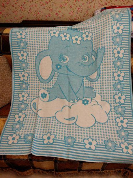 Одеяло/плед для новорожденного ТМ Ярослав полушерсть