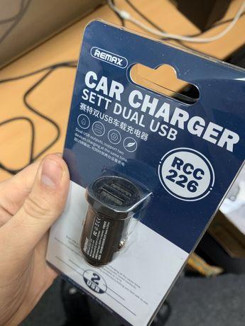 Автомобильное зарядное устройство 2 в 1