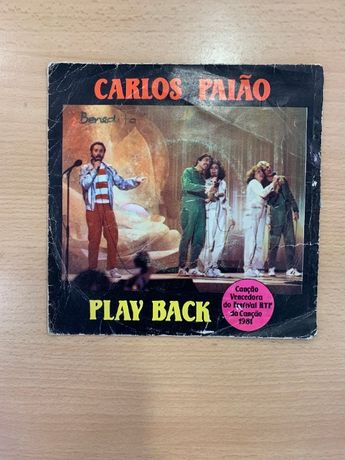 "Disco Vinil ""Carlos Paiao - Play Back"" (Usado)"