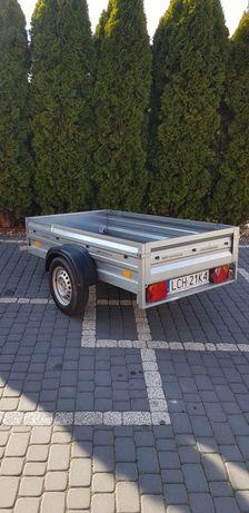 Przyczepka samochodowa *jak nowa* zarejestrowana lekka DMC 750kg