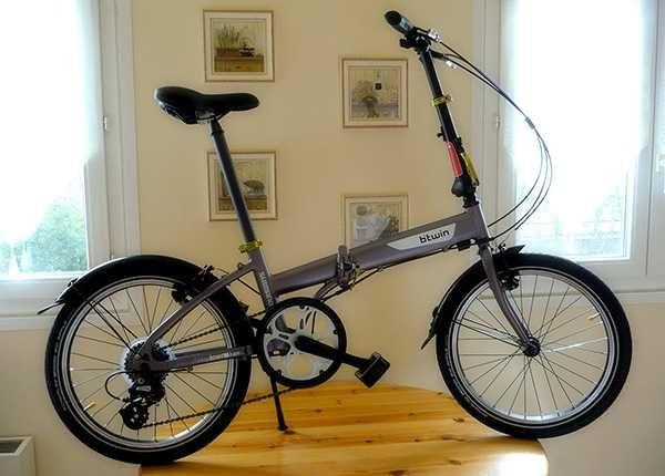 Bicicleta Urbana Dobrável B'Twin Pneu 20''