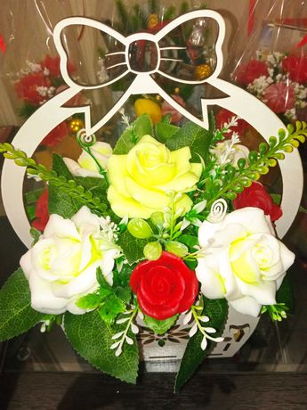Букет цветов из натурального мыла