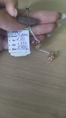 Золотые серьги 585 пробы