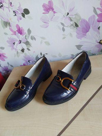 Туфли нарядные для девочки р.34 21,5 см туфельки