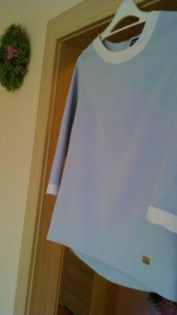 Śliczna niebieska bluzka, rękawek 3/4 r.36, S !