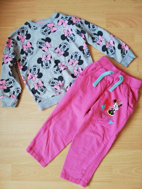 Dresy spodnie bluza roz 98