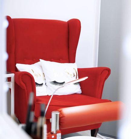 Fotel uszak czerwień
