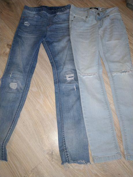 Spodnie z dziurami rozm 134