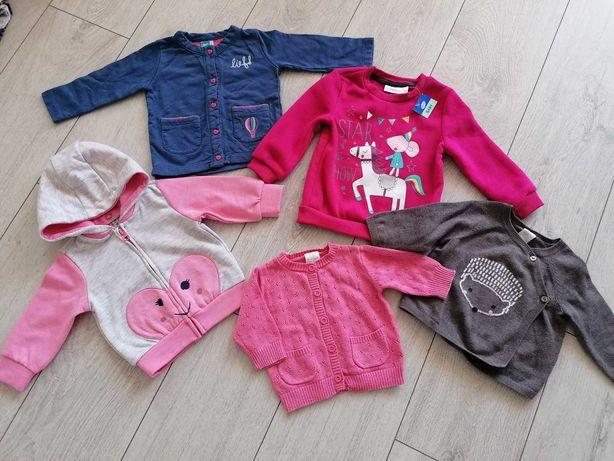 Bluzy i sweterki 5 10 15, H&M i inne rozm. 56-68