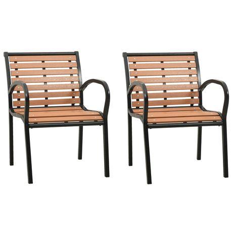 vidaXL Cadeiras de jardim 2 pcs madeira 47937