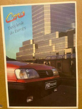 Ulotka broszura Polonez, 2 sztuki PL + ang