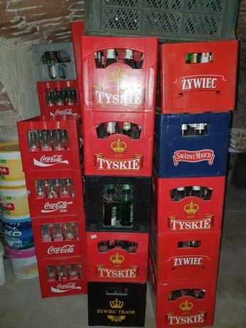 Skrzynka transporter kasta piwo butelki cola pepsi