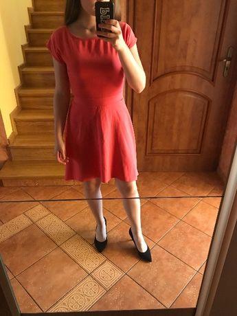 Sukienka malinowa Eidos